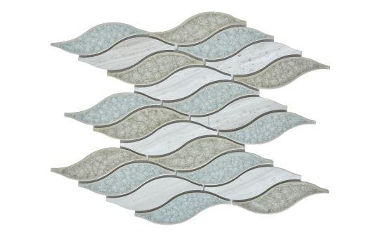 Pontus Blue Waterjet Cut Mosaic