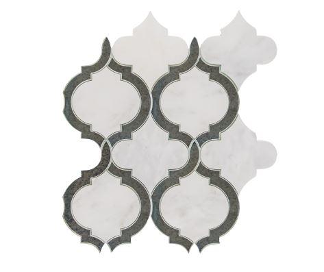 Alice Mirror Waterjet Cut Mosaic
