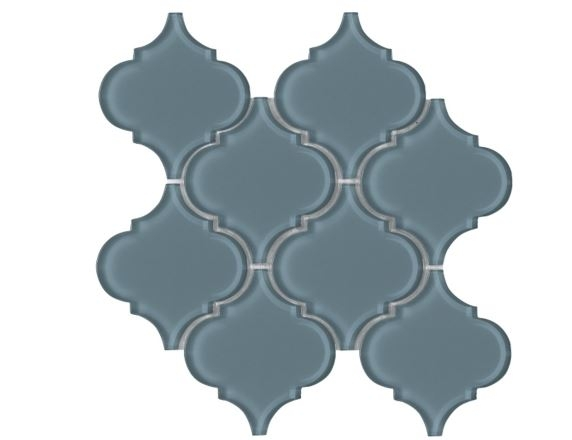 Arabesque Blue Shining Waterjet Cut Mosaic