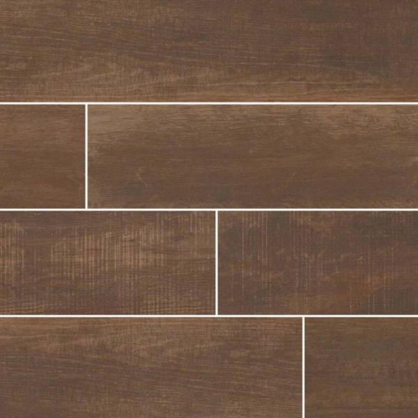 6x40 Cherry Barnwood Wood Look Porcelain Tile
