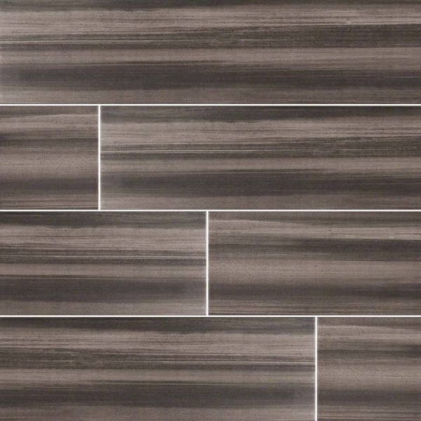 Graphite Watercolor Wood Look Porcelain Tile