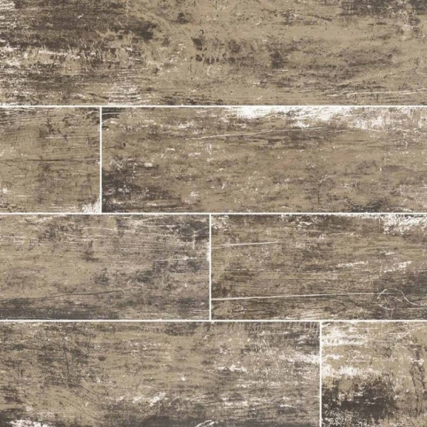 Leather Vintage Wood Look Porcelain Tile