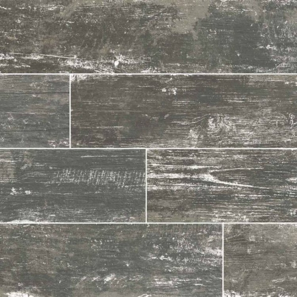 Silver Vintage Wood Look Porcelain Tile