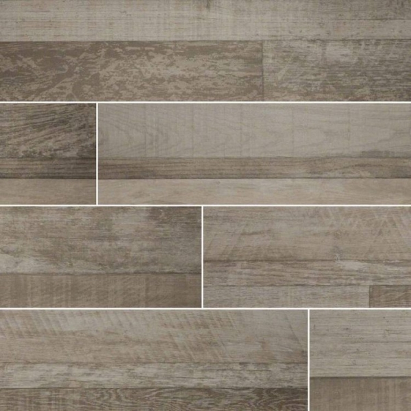 Gris Sierra Wood Look Porcelain Tile