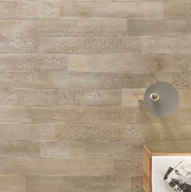 Nordek Greige Decor Wood Look Porcelain Tile