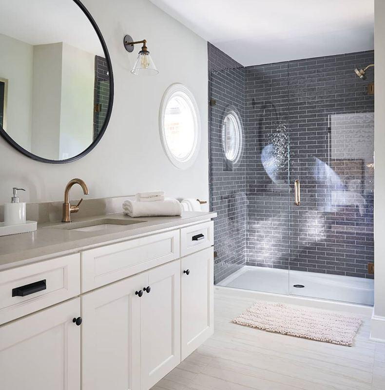 Dark-Handmade-Subway-Shower-Walls