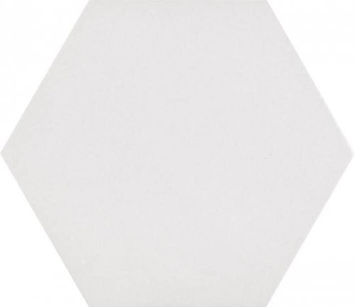 Basic White Hexagon Hexagon Porcelain Tile