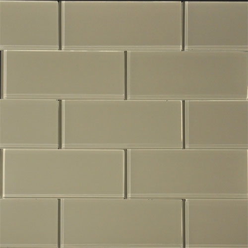 Almond 3x8 Glass Tile
