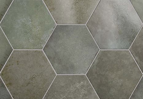 "7x8"" Hexagon Porcelain Tile - Jungle"