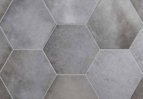 "7x8"" Hexagon Porcelain Tile - Shadow"