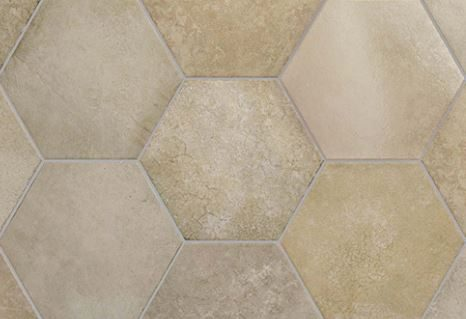 "7x8"" Hexagon Porcelain Tile - Wheat"