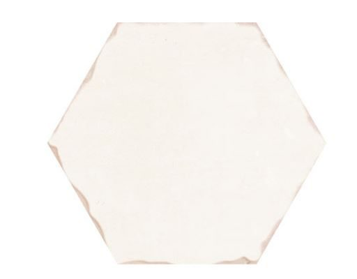 "5"" Hexagon Porcelain Tile - Bone"