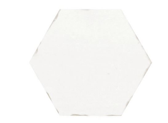"5"" Hexagon Porcelain Tile - Pearl"
