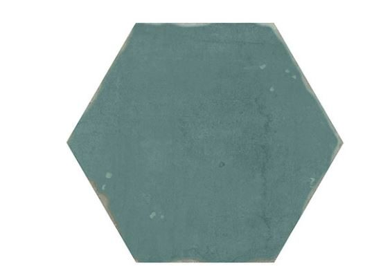 "5"" Hexagon Porcelain Tile - Turquesa"