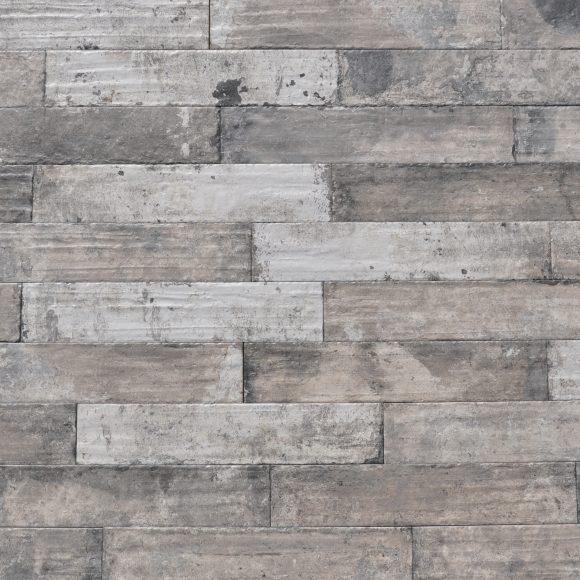 "3x16"" Blacked Brick Porcelain Tile"