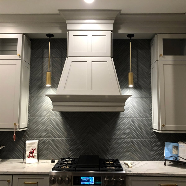 "12x24"" Deco Tile backsplash"