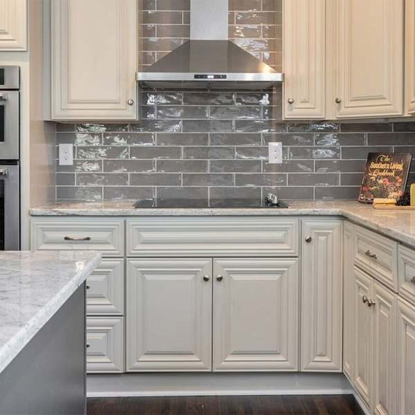"3x12"" Subway tile backsplash"