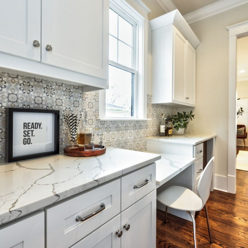 Painted-Marble-Backsplash