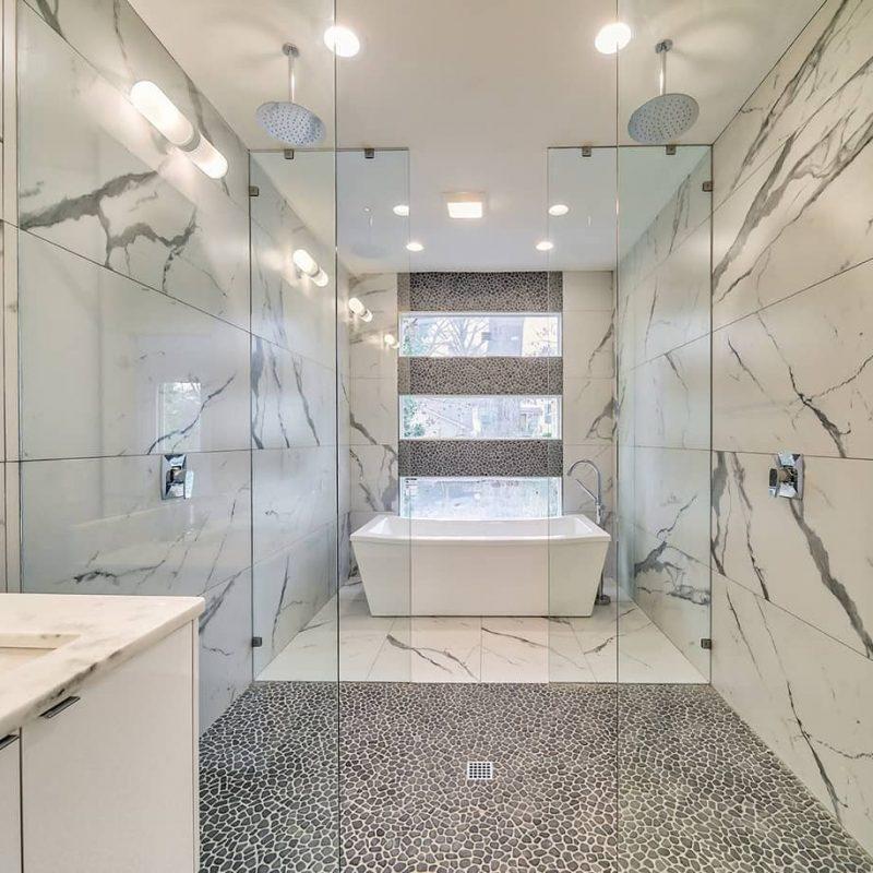 "24x48"" Marble look porcelain tile"