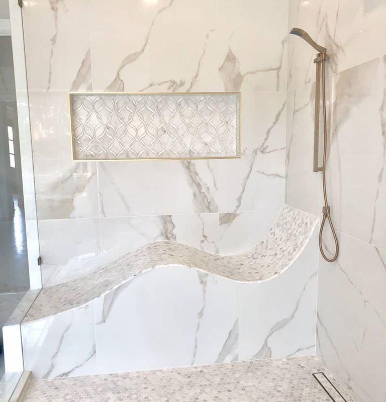 "32x32"" Marble Look porcelain tile"
