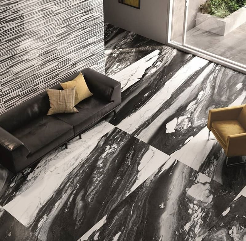 Large-Format-Black-White-Porcelain-Living-Room-Idea