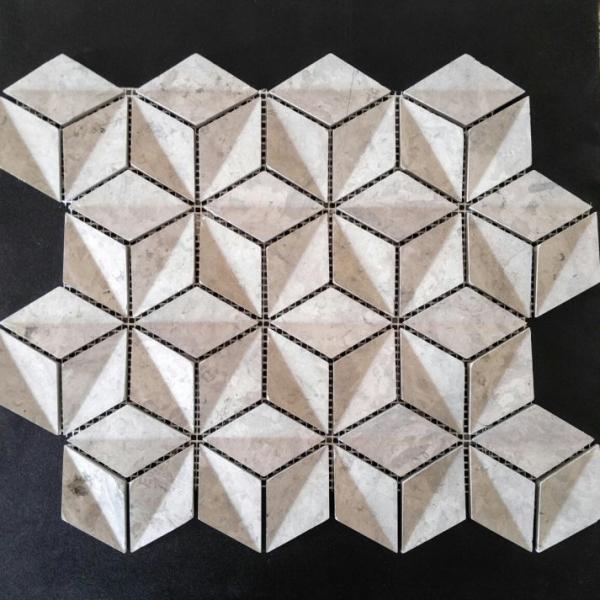 Elegant Grey Marble 3D, Honed Finish