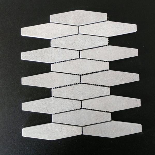 Nordic Grey Marble Oblong Honeycomb, Honed Finish