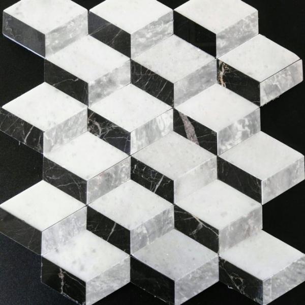 Mixed Marble Cube, Polished Finish