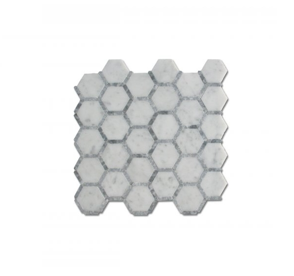 Carrara Honeycomb Mosaic