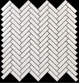 .5x2 Buckhead White Glossy Porcelain Herringbone
