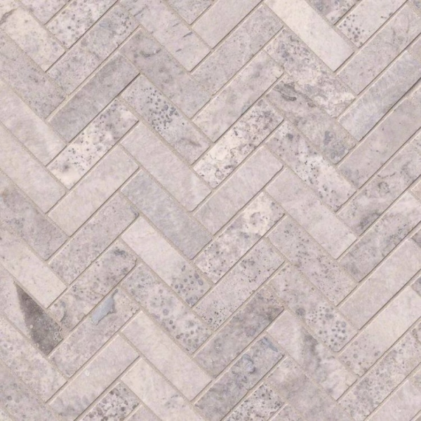 Silver-Travertine-Herringbone-Pattern-Honed