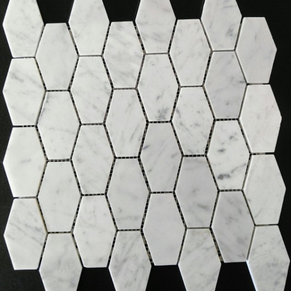Carrara Marble Stretched Hexagon