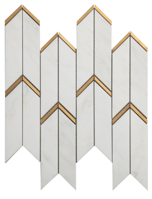 Avana Bianco Bello Marble w/Brass Polished
