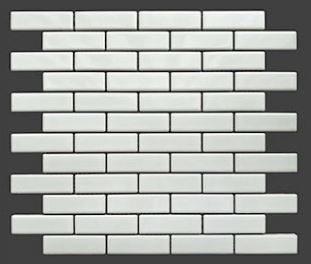 Buckhead White Glossy Porcelain Brick