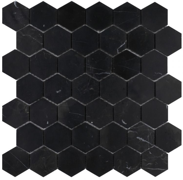 Hexagon Marquina 2 x 2 Honed