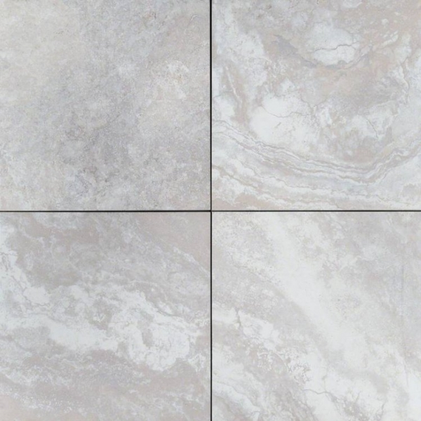 "16x32"" and 24x24"" Argent Travertine Porcelain Tile Pavers, 2 CM thick"