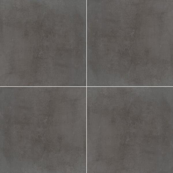 "24x24"" Beton Anthracite Porcelain Tile Pavers, 2 CM thick"
