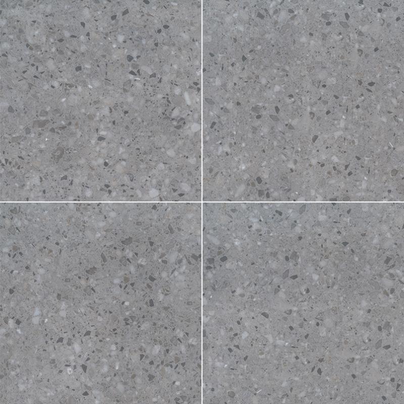 "24x24"" Terrazo Grey Porcelain Tile Pavers, 2 CM thick"