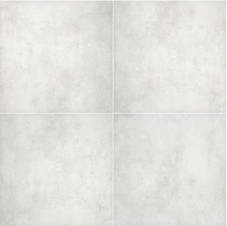 "24x24"" Beton Blanco Porcelain Tile Paver, 2 CM Thick"