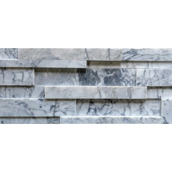 Carrara Marble Honed Finish Stacked Stone