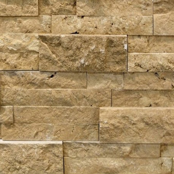 Walnut-Travertine-Stacked-Stone-Splitface-Finish