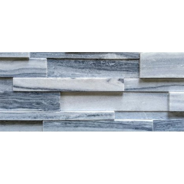 White-and-Grey-Quartzite-Honed-Finish Stacked Stone