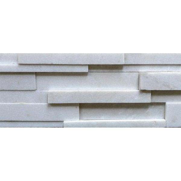 Pure-White-Quartzite-Honed-Finish Stacked Stone
