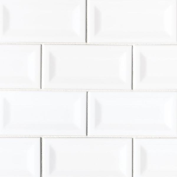 3x6 White Inverted Subway Tile