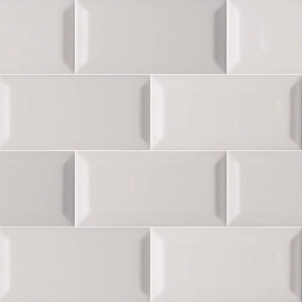 3x6 Beveled Grey Subway Tile