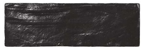 "2.5""x8"" Amalfi Black Subway Tile"