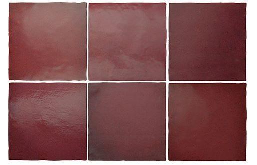 "5x5"" Subway Tile - Burgundy"