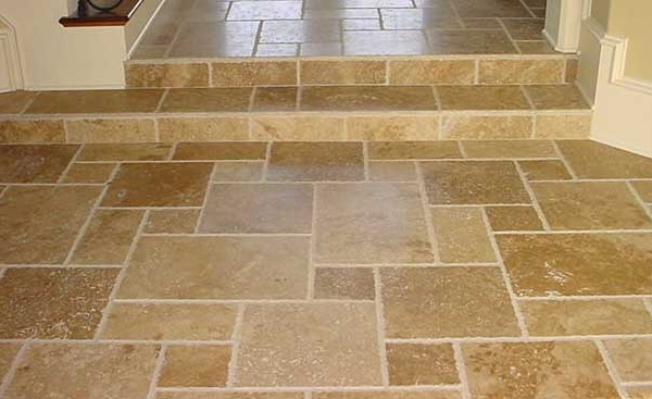 Gold Travertine, French Pattern