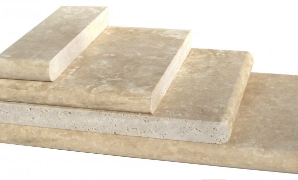 Beige Travertine Pool Copings