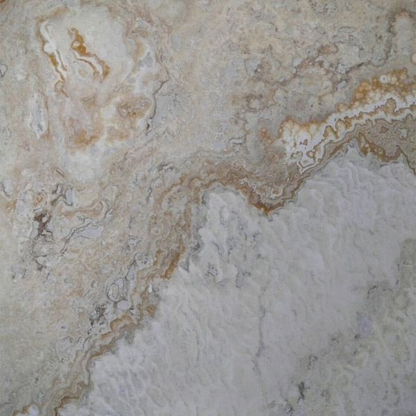 Gold River Travertine Filled and Honed